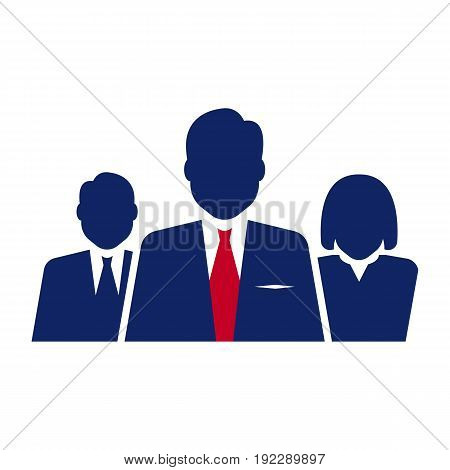 Vector illustration of group of people on white background