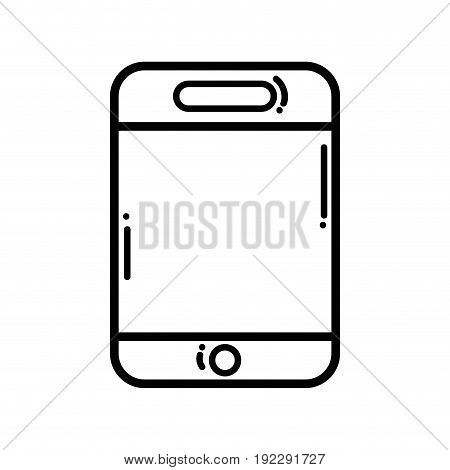 line smartphone technology to talk with people vector illustration