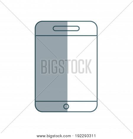 silhouette smartphone technology to talk with people vector illustration