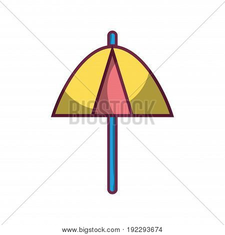 umbrella protection of the change weather vector illustration