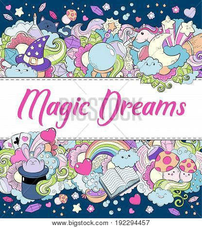Magic dreams background, wallpaper, texture postcard card