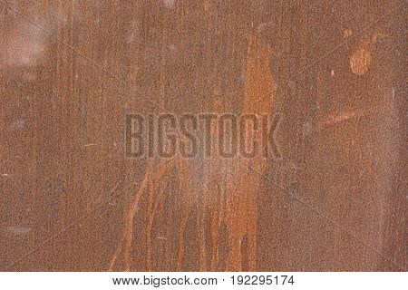 Texture of rusty metal. Viewed from the front