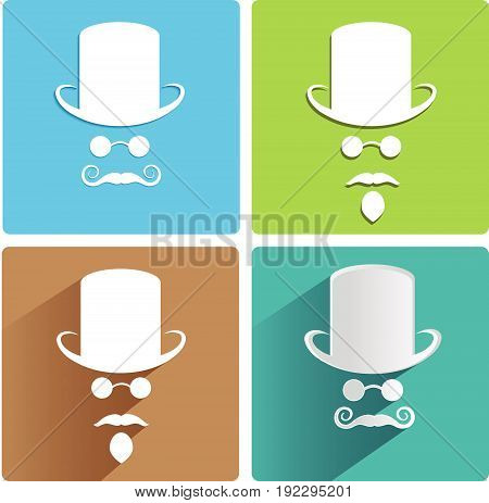 four colorful variants of the invisible men