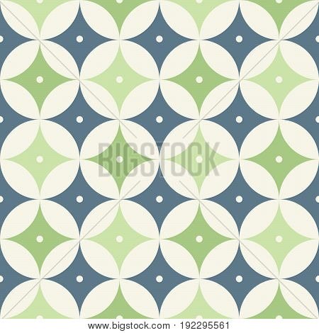 1950s mid century modern vintage retro atomic seamless background pattern. Fully editable vector illustration for web and print.