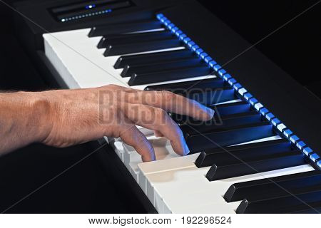 Playing The Electric Piano By Hand