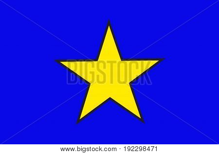 Flag of Istres is a commune in southern France. It is in the Provence-Alpes-Cote d'Azur region in the Bouches-du-Rhone department of which it is a subprefecture. Vector illustration