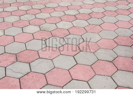 Footpath Hexagon Concrete Block