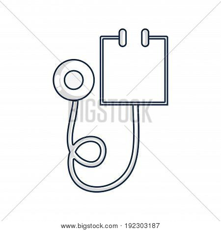 medical stethoscope tool and cardiology element vector illustration