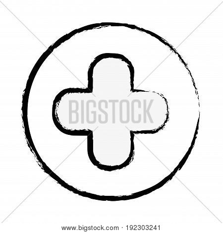 figure cross clinic symbol to healthcare people vector illustration