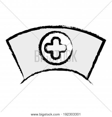 figure nurse hat element that used in the hospital vector illustration