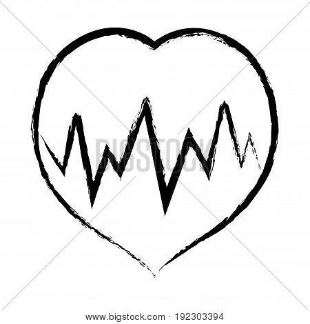 figure medical heartbeat to cardiac rhythm vector illustration