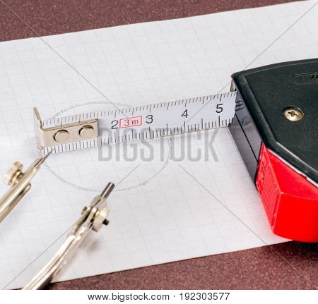 Accessories for the roulette engineer and compasses are useful tools for gauging and drawing