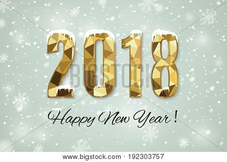 2018 happy new year snow background.merry Christmas.