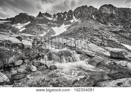 Stream In High Tatra Mountains, Slovakia.