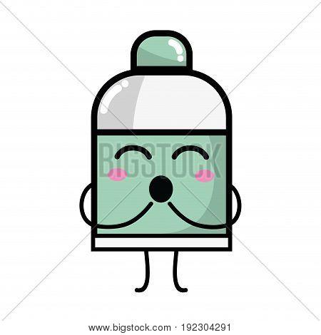 kawaii cute funny ointment pharmaceutical medicine vector illustration
