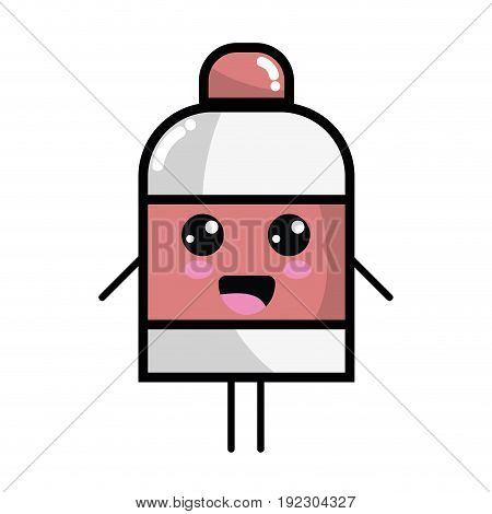 kawaii cute happy ointment pharmaceutical medicine vector illustration