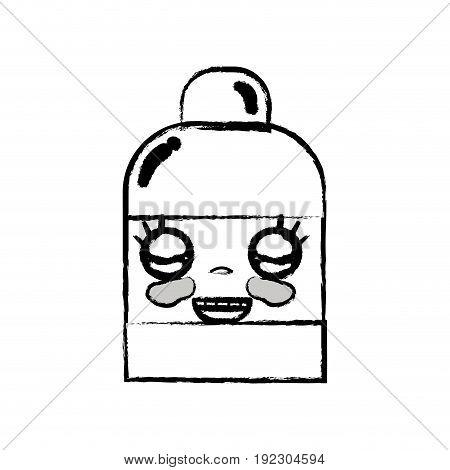 figure kawaii cute happy ointment pharmaceutical medicine vector illustration