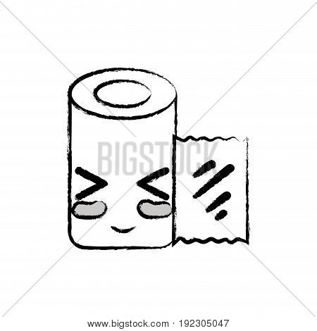 figure kawaii cute funny gauze medical tool vector illlustration