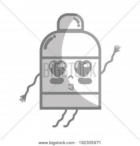 line kawaii cute tender ointment pharmaceutical medicine vector illustration