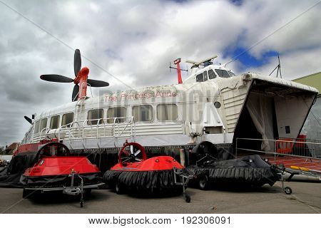 Lee-on-the-solent, Hampshire, Uk - June 10 2017: Sr.n4 Hovercraft