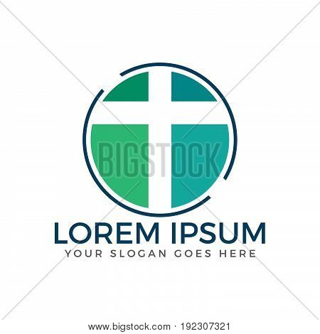 Cross vector logo design template. Template logo for churches and Christian organizations cross. Calvary cross church.
