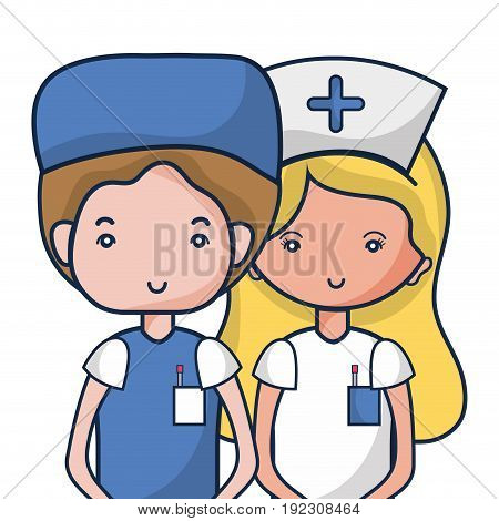 doctor and nurse to help people vector illustration