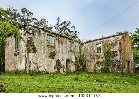 Ruins Of An Abandoned House In Sao Rogue On Sao Miguel