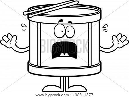 Scared Cartoon Drum