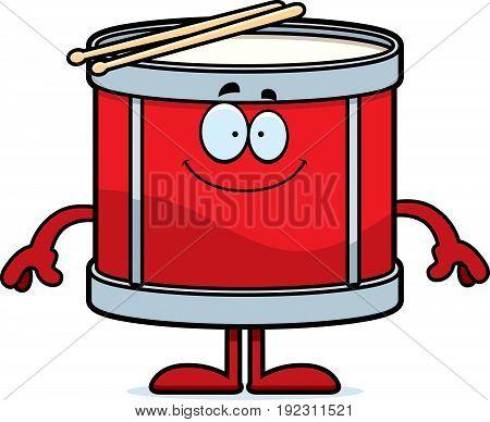 Happy Cartoon Drum