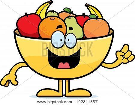 Cartoon Bowl Of Fruit Idea