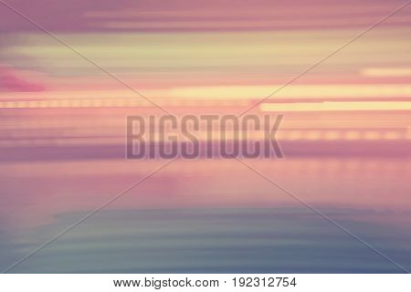 Abstract vintage pink horizontal streaked city lights background