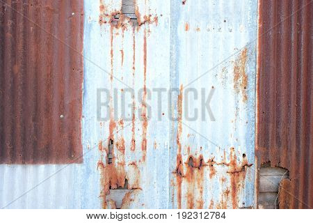 vintage zinc texture background old panels for background Old damage rusty zinc plat wall