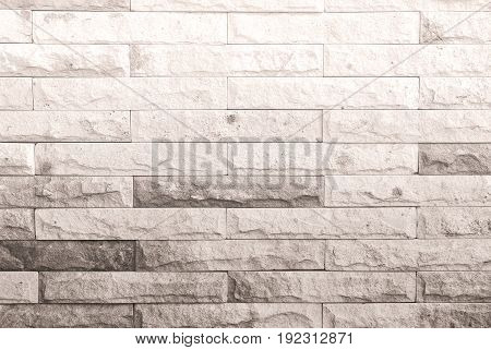 Background of vintage dirty brick wall with peeling plaster texture Black and white color