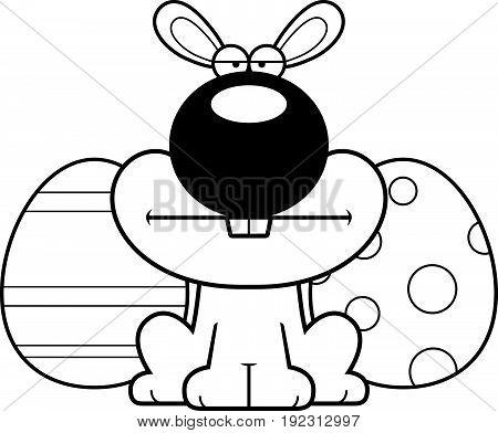 Cartoon Easter Bunny Bored