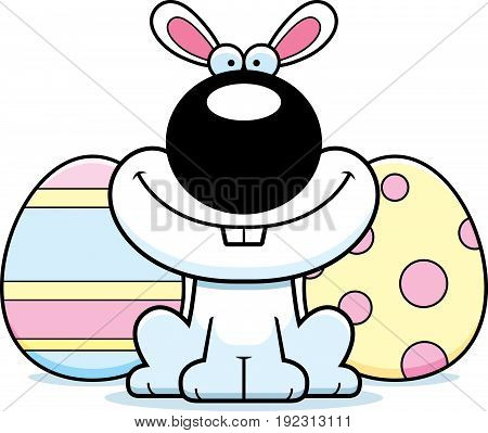 Smiling Cartoon Easter Bunny