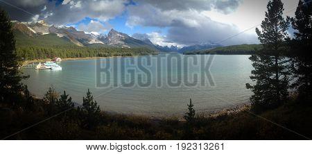 Maligne Lake, Jasper Natioional Park, AB, Canada poster