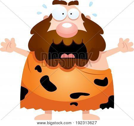 Scared Cartoon Caveman