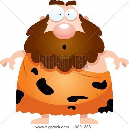 Surprised Cartoon Caveman