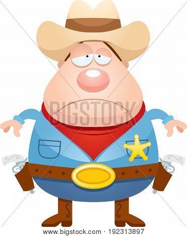Sad Cartoon Sheriff