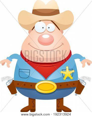 Happy Cartoon Sheriff