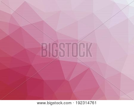 Abstract Pink Gradient Low Polygon Shaped Background