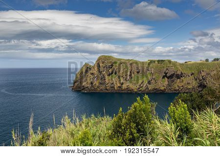 North Coast At Capelas On Sao Miguel Island