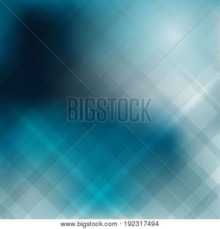 Abstract geometric shape overlap on deep blue background