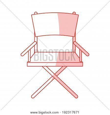 Flat line monocromatic directors chair over white background vector illustration