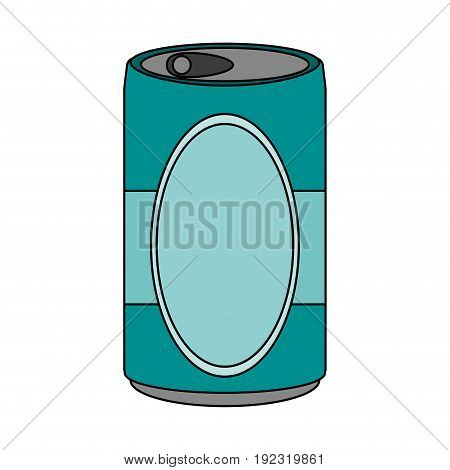 Soda can over white background vector illustration