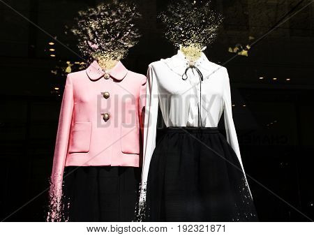 Mannequins with effects with a dark background