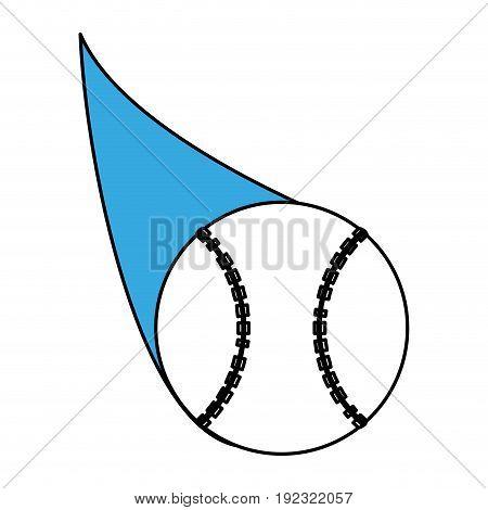 Flat line baseball ball over white background vector illustration