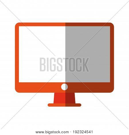 pc monitor electronic icon vector illustration design shadow