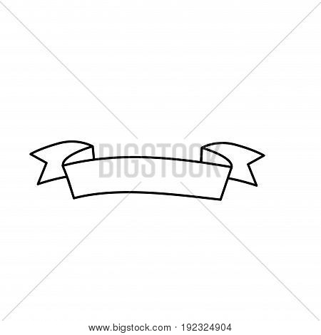 line cute ribbon to decoration design vector illustration