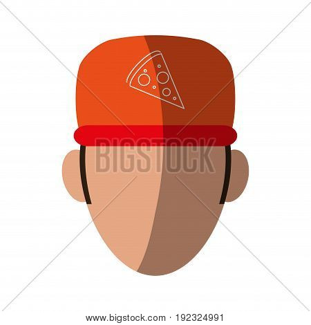 Pizza clothes messenger icon vector illustration design shadow